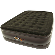 PORTAL Inflatable Double High Queen Air Bed Camping Home Sleeping Mattress