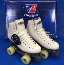Riedell Roller Skates Figure Model 117 White Medium Width Size 6.5 Brand New