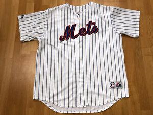 New York Mets Size XL Majestic Pinstripe Jersey MLB X103