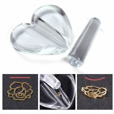 Nail Art Metal Slice Clear Heart Acrylic Curve Making Model Pressed Mold Tools