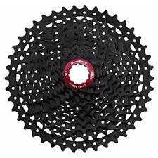 Cassettes y piñones universales negros para bicicletas con 10 velocidades
