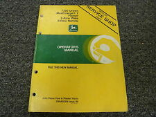 John Deere 7200 6 Wide & 8 Narrow Drawn Planter Owner Operator Manual OMA50304