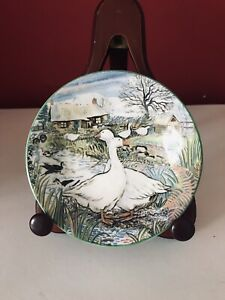 """Royal Kendal 1992 Alex Williams Collection Bone China 5"""" Plate """"December"""""""