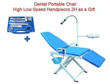 Dental Portable Folding Chair Mobile Unit +Wrench High Low Speed Handpieces 2H