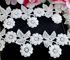 Beautiful White color Venise Flower Lace Trim - price for 1 yard