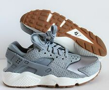 official photos a0746 60773 Nike Air Huarache Run Premium Womens 683818-012 Grey Gum Running Shoes Size  7