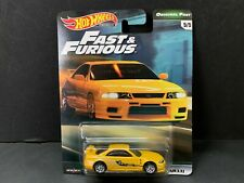 Hot Wheels Nissan Skyline GTR R33 Yellow Fast and Furious GBW75-956B 1/64