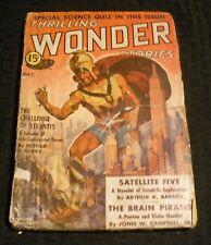 1938 Oct THRILLING WONDER STORIES Pulp Magazine v.12 #2 GD 2.0 Arthur K Barnes