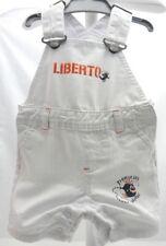 Liberto salopette blanche motif poissons  bébé 3 mois