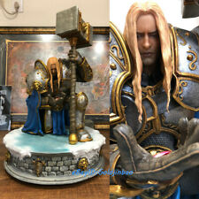 NOAH Studio WOW Paladin Prince Arthas Statue On Stand Painted Model In Stock New