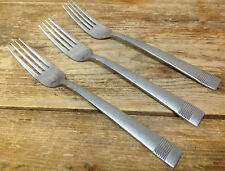 3 Dinner Forks Cambridge Stainless Stripe Bands Lines Gloss Satin Pattern HELP ?