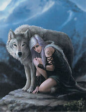 NEW Wolf Picture Protector by Anne Stokes 25 cm x 19 cm Wall Plaque