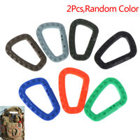 2 Pcs Plastic Carabiner D-Ring Key Chain Clip Hook Outdoor Camping Buckle SnapVe