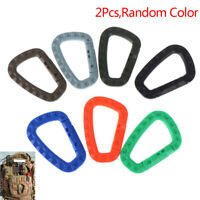 2 Pcs Plastic Carabiner D-Ring Key Chain Clip Hook Outdoor Camping Buckle Snap
