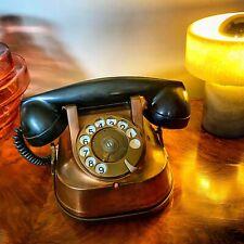 Original Antique Copper / Brass / Bakelite Telephone Model RTT56b 1950s Belgium