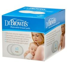 Dr Brown's Oval Disposable Breast Pads 60 Pk Breast Feeding Baby Ultra Soft Thin
