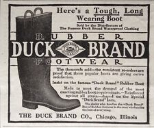 1913 AD.(XC12)~THE DUCK BRAND CO. CHICAGO. DUCK BRAND RUBBER FOOTWEAR