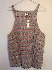 NWT New Anthropologie Akemi + Kin Knit Tank Shirt Top Multi-Color Large L $48