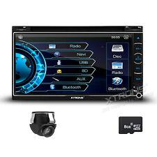 "6.95"" Double DIN Car DVD Player GPS Stereo USB Radio Bluetooth + Reverse Camera"