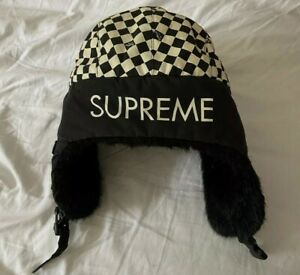 Very rare FW07 Supreme Checker Fur trooper hat vintage from 2007