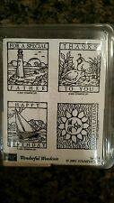 StampinUp WONDERFUL WOODCUTS Wood Stamp Set RETIRED!! LTD Ed  Father's Day!