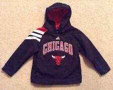 EUC! Boys Adidas Black/Red Chicago Bull Sweatshirt Sz M(5/6)
