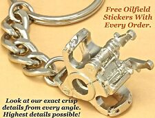 Oilfield Elevator Oil Drill Rig Bit keychain drillbit Pendant roughneck sticker