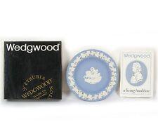 Vintage Wedgwood J1000 2489 Blue Jasperware Goddess Aurora Tray w/ Box England