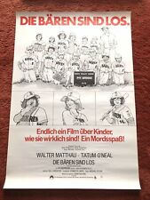 Die Bären sind los Kinoplakat Poster A1, Walter Mattau, Tatum O'Neal, 1976