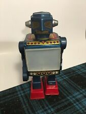 Vintage 1960s Tin Plastic Video Robot Horikawa Japan Very Cool