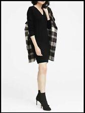NEW BANANA REPUBLIC BLACK WHITE V NECK SWEATER DRESS XL