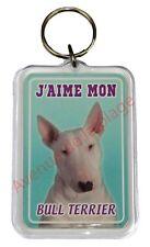"""Porte clé chien """"J'aime mon Bull Terrier"""" chien idée cadeau pas cher NEUF"""