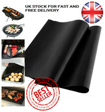 BBQ Grill Mat Teflon Reusable Sheet Non-Stick Barbecue Oven Liner Cooking! UK!
