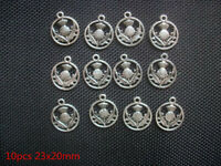 HOT 10pcs Scottish Thistle Plant Beads Tibetan Silver Charms Pendant DIY 19x16mm