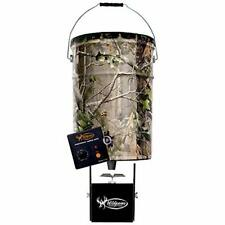 Multi Color 50 Lbs Pail Feeder Real Tree Camo Steel Hanging Mount Compact New