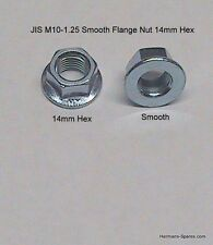 JIS M10x1.25 14mm Hex Head and Cylinder Smooth Metric Flange Nut - Bag of 12