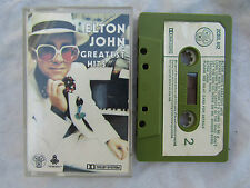 CASSETTE ELTON JOHN GREATEST HITS djm / zcdjl 442 paper label original