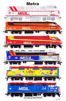 "Metra 11""x17"" Poster by Andy Fletcher signed"