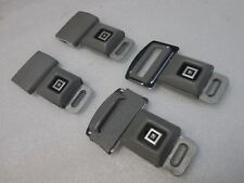 4x GM Logo Seat Belt Buckle Push Button With Fixed Latch, Chevy Seatbelt Buckle