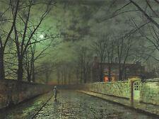 John ATKINSON GRIMSHAW lune rue maîtres anciens photo 1609omlv