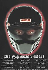 Vintage Magazine Advert from 1997 – Simpson Crash Helmets - Super Bandit - RX8