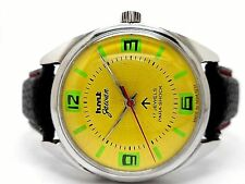 genuine hmt jawan hand winding men's steel vintage india made watch run order d