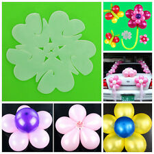 10pcs White Plum Clip Tie Filled Helium Air Balloons For Party Decor Supplies