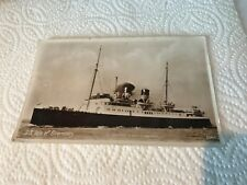 S.S. Isle of Guernsey b+w Real Photo postcard posted 3360 STEAM SHIP