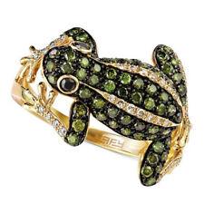 925 Silver Wedding Emerald Rings Women White Sapphire Animal Ring Jewelry Sz6-10