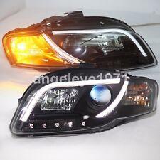 2005-2008 Year For Audi A4 B7 LED Strip Head Lamps fit original halogen model