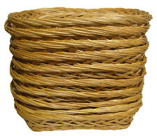 10 x Shallow Wicker Trays - Fruit Gift Basket Hamper, Shop Display - 25x19x5cm