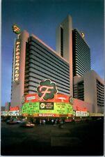 1993 Fitzgerald's Hotel Casino Reno Nevada Postcard Vintage Evening Neon Light