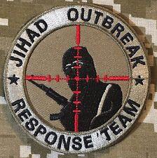 JIHAD OUTBREAK RESPONSE TEAM INFIDEL US ARMY DESERT VELCRO® BRAND FASTENER PATCH