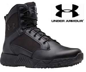 """Under Armour Black Stellar Tactical Boots - UA 8"""" Field Duty Military Style Boot"""